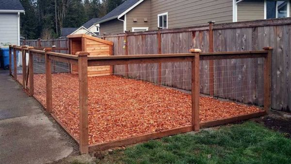 Edwardsville IL Dog Run Dog Pen Installer